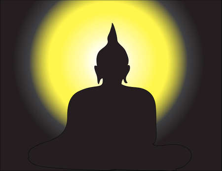 grounding: Meditation on Bhuddha Image in Silhouette Tone