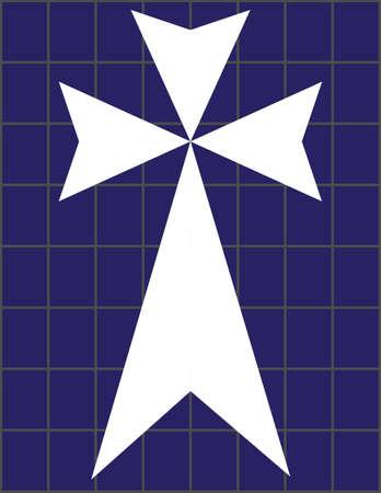 surety: Croce sul muro colorato Cristal a Tempio