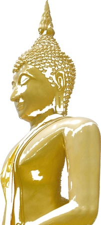 A image or Statue of Buddha that Seated in The attitude of meditation and Sitting cross-legs with one top of another  Stock Photo