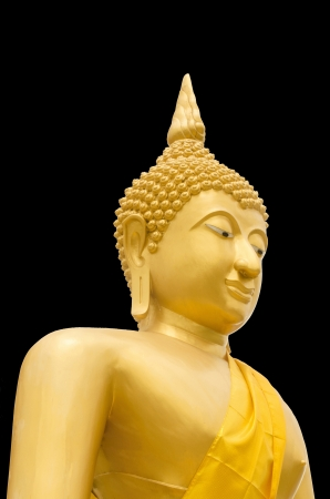 seated: A image or Statue of Buddha that Seated in The attitude of meditation and Sitting cross-legs with one top of another. Stock Photo