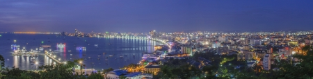 Night of Pattaya City from Hill Point