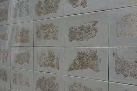The Style of Tiled Block Wall Texture Stock Photo