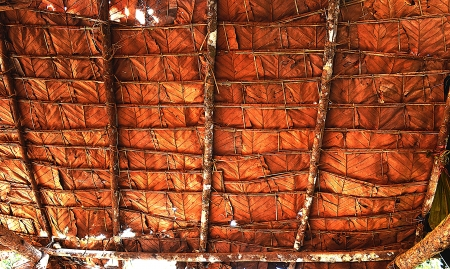 The Tile Roof made from Teak Leaf