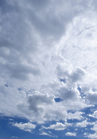 The Fluffy Cloudy Blue Sky Scape 111