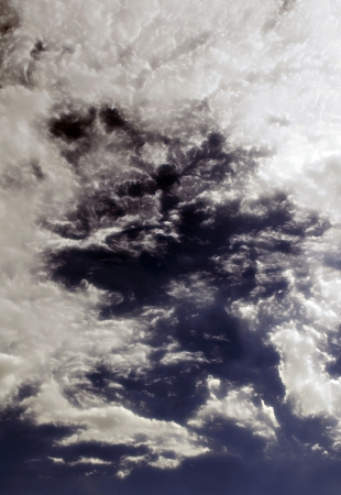The Fluffy Cloudy Deep Blue Sky Scape 021