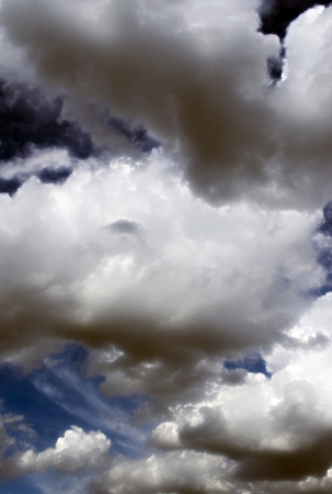 The Fluffy Cloudy Deep Blue Sky Scape 071