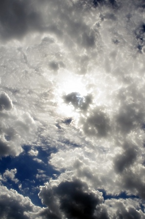 The Fluffy Cloudy Deep Blue Sky Scape 121 Stock Photo