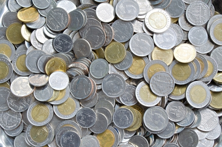 The Thai Coin Money for Trading Exchange Stock Photo