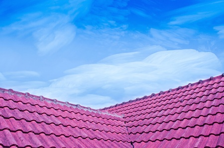 crystallize: See the Sky When Crystallize Freezing  to Icy  Over Red Tiled Roof