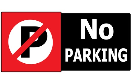 The vector of No Parking Sign Symbol Area  Vector
