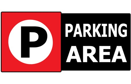 The vector sign symbol of show area can park any vehicle  Vector