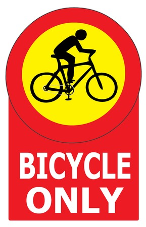 allow: Vector of sign show that it allow only bicycle in this lane or case