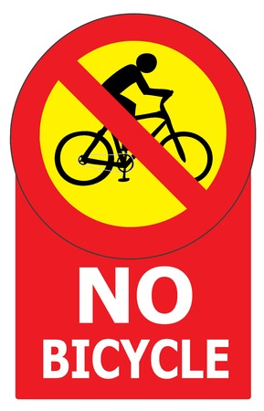 allow: Vector of sign show that it not allow any bicycle pass in this area or road