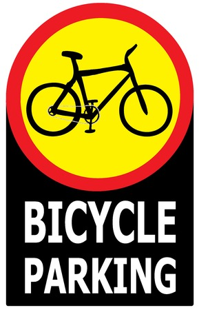 Vector of sign show that it allow only bicycle can park in this area  Vector