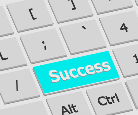 Enter Key show the success on decision push it  Vector
