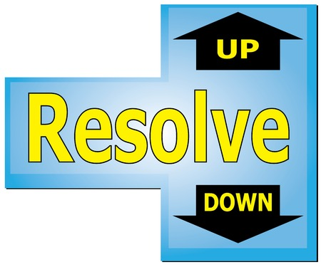 resolve: Enter keyboard vector show the Resolve in two way,up or down