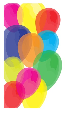 Vector of Colorful Balloon of Celebration Isolated Background  Vector