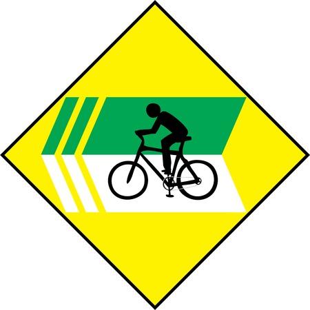 turn left: Girare a sinistra biciclette Sign Etichetta Vector Vettoriali
