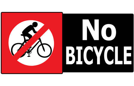 Vector of sign show that it not allow any bicycle pass in this area or road  Vector