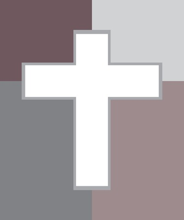 jesus cross: Vector of Jesus Cross in Two Tone  Illustration