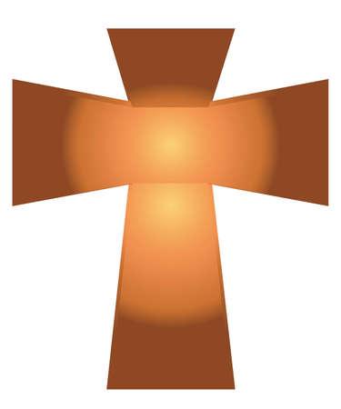 j�sus croix: Vecteur de J�sus Croix sur fond blanc