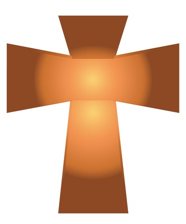 jesus cross: Vector of Jesus Cross on White Background  Illustration