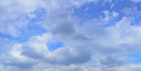 The sky in blue with white cloud  Stock Photo