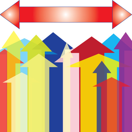 upward: The Colorful Arrow up to Upward Point
