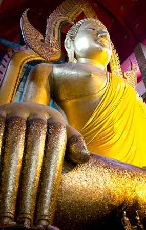 The Golden Seated Buddha in Temple