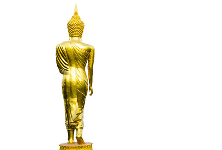 The Buddha Image Art on Isolated White Background. Stock Photo
