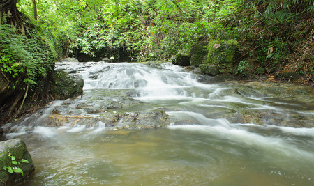 The Deep Forest Waterfall at Sarika Waterfall Thailand.