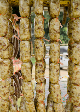 The local Sausage Food Preservation in Northern East of Thailand.