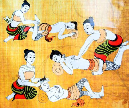 The Traditional Thai Massage.