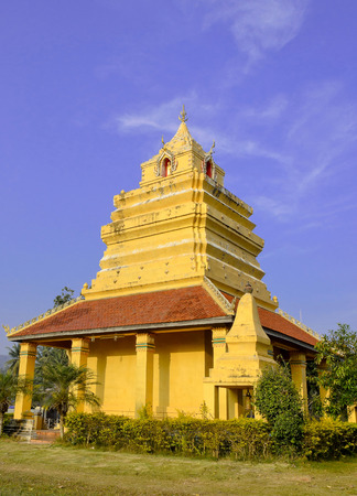 The Little Pagoda in Temple and Blue Sky Stock Photo