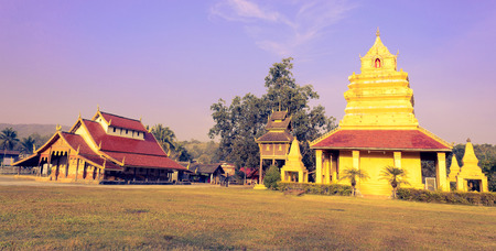 The Old Thai Buddhist Temple and Pagoda.