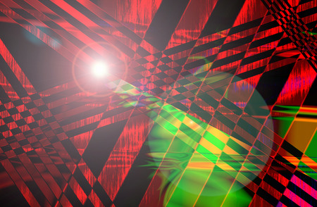 The Abstract and Stripe Line Background Texture Pattern with Light Flare. Stock Photo