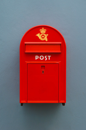 The red postbox in denmark