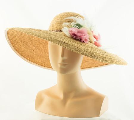 Bruine hoed op het model