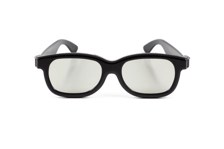 3D glasses on the white background photo