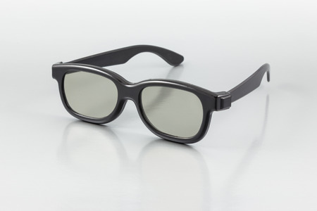3D Glasses on the gray background photo