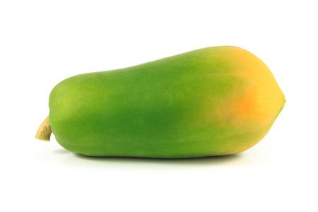 Papaya on the white background