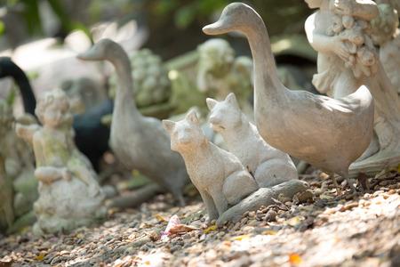 statuary garden: Animal Garden Statue Stock Photo