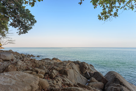 Khoa Lak beach in the morning light, Phang-Nga Province, Thailand photo