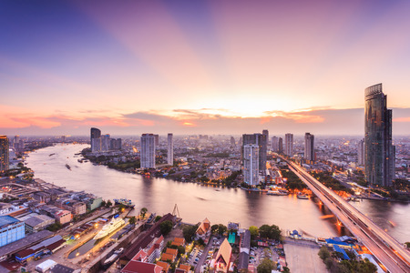 traffic building: Bangkok cityscape, view from high building
