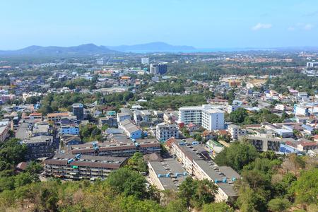Viewpoint of Phuket city Phuket province Thailand.