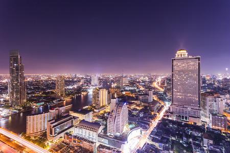 Bangkok cityscape at night Thailand