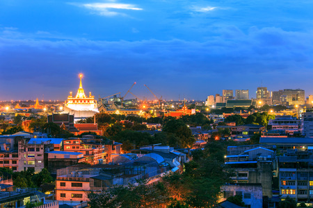 templo: Golden Mountain templo, Wat Saket Bangkok, Tailandia Foto de archivo