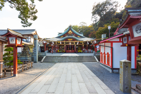 saga: Kyushu, Japan - November 10, 2015: Yutoku Inari-jinja is one of the largest shrines sacred to the god of business prosperity in Japan which was built in 1687. It is located in the city of Kashima.