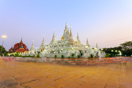 samutprakarn: Buddhist in Thailand come pray in Magha Puja Day at Asokaram Temple, Samutprakarn Province