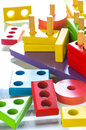 skill: Children�s toys for learning skill Stock Photo